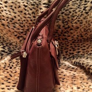 Fossil Bags - FOSSIL Small Brown Messenger Top Handle Bag
